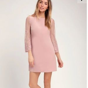 Dress from lulus. Blush color